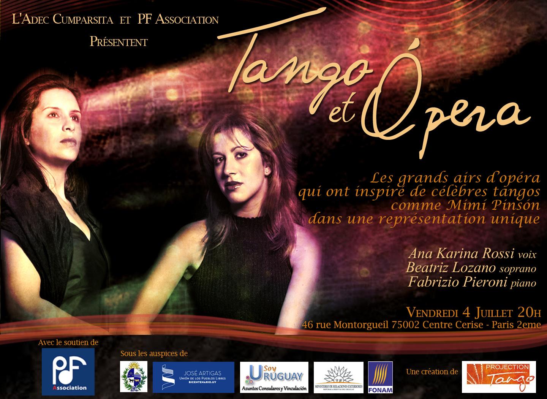 Affiche du spectacle tango et Opéra