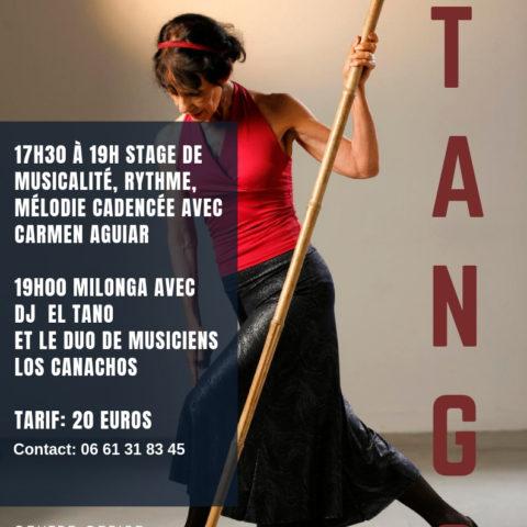 Samedi 26 Janvier 2019 –  Milonga au Patio – Stage et Bal avec Los Canachos !