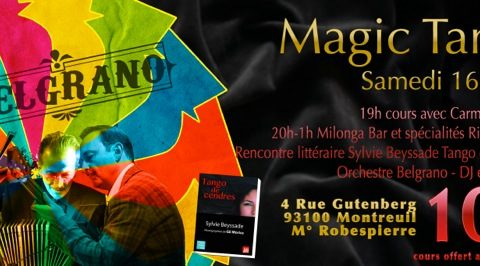 Samedi 16 mars 2019 : milonga Magic Tango